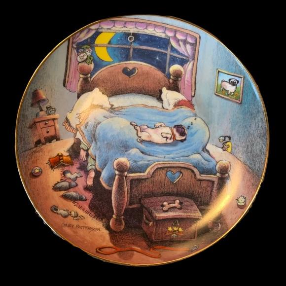 Limited Edition Patterson Pug Danbury Mint Plate